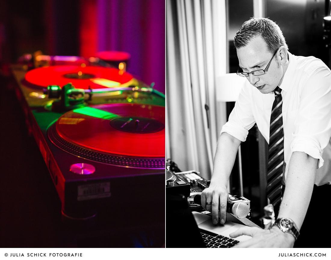 DJ eMBee und DJ Pult im Stapelskotten