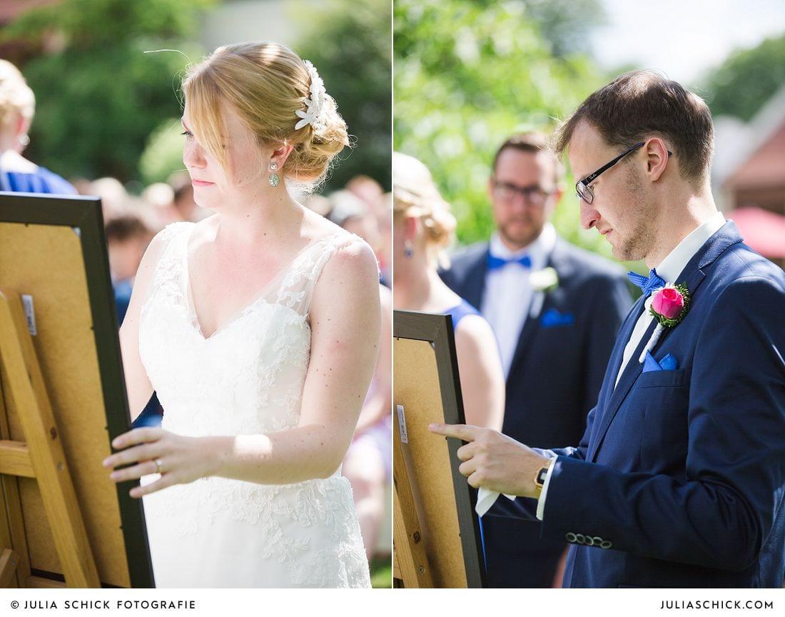 Brautpaar bei Freier Trauung auf Gut Havichhorst