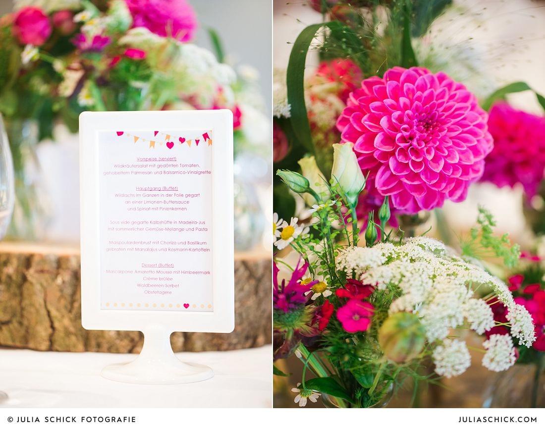 Hochzeitsblumendekoration von Blütenzauber auf Gut Havichhorst in Münster