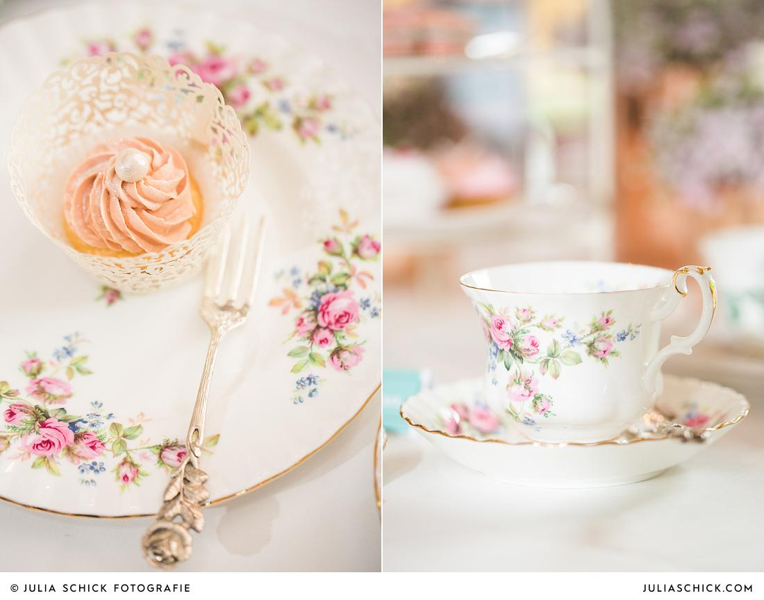Hochzeitscupcake von Tortenmacher, Vintage Geschirr von Tante Betty