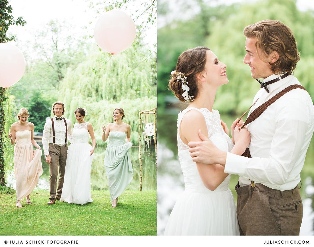Brautpaar im Vintage Stil Hof zur Linde