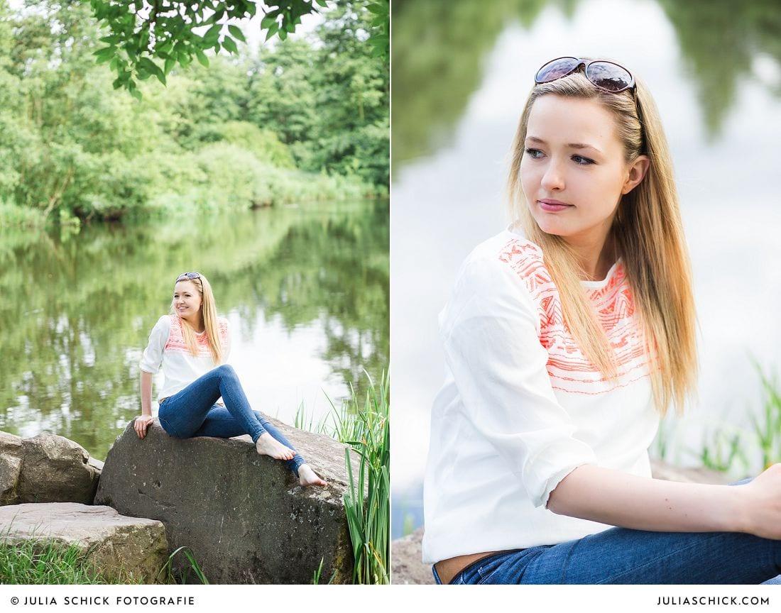 Fotoshooting am See im Wienburgpark in Münster