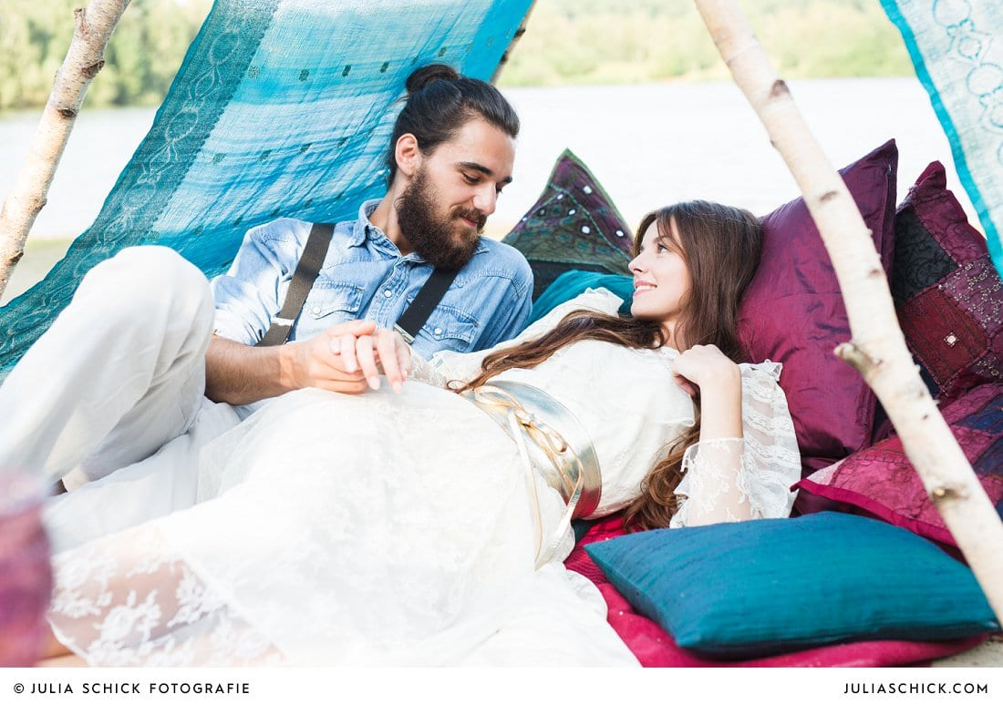 Boho-Hippie-Hochzeit am See veröffentlicht im MarryMag