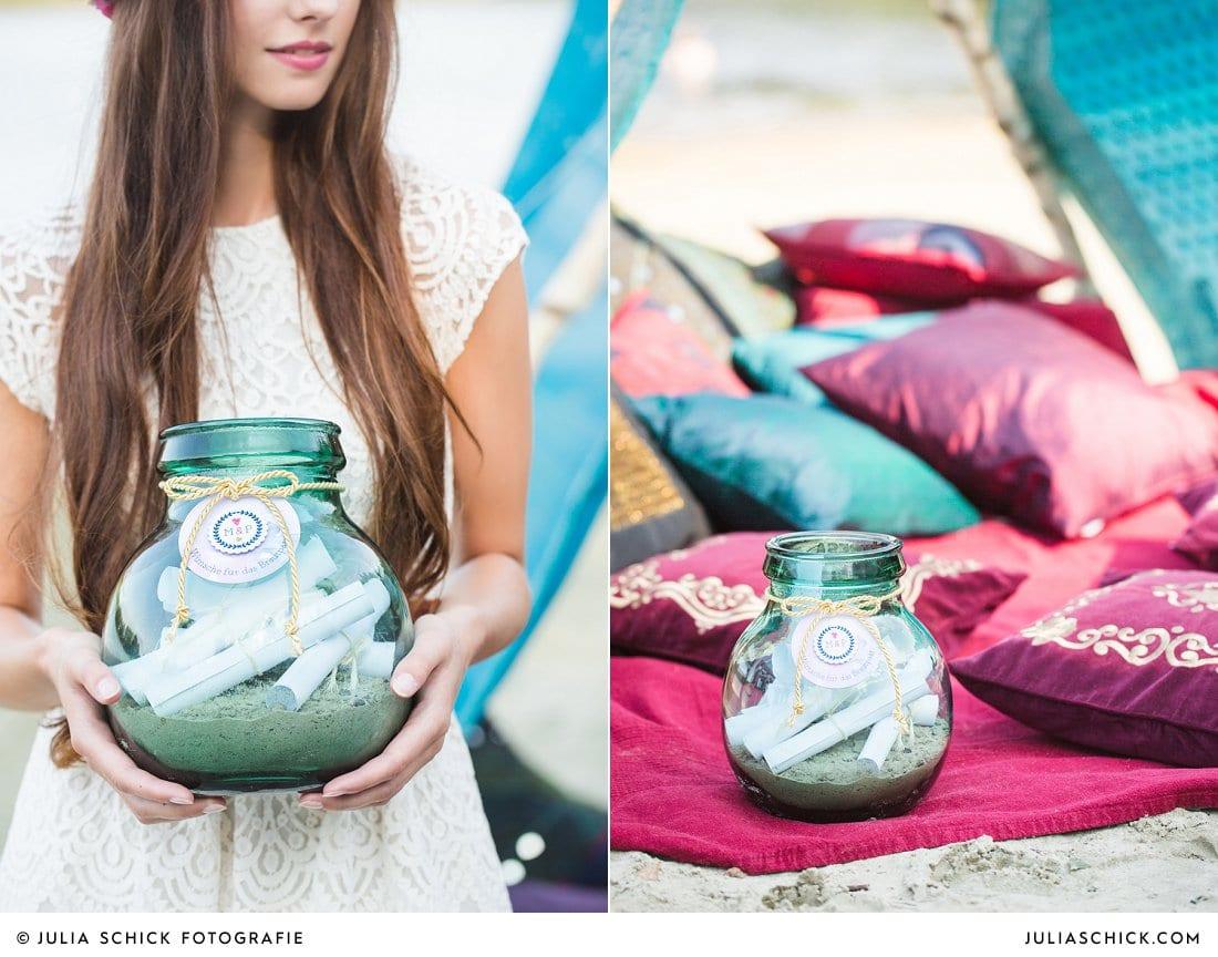 Hochzeitsidee Wunschglas