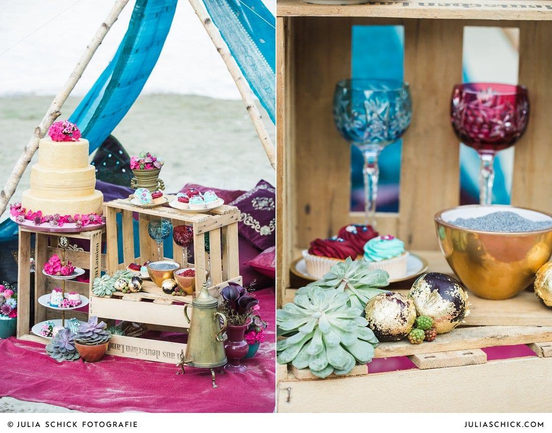 Candybar und Hochzeitstorte von Tortenmacher, Hochzeitsdekoration florale Manufaktur Ascheberg