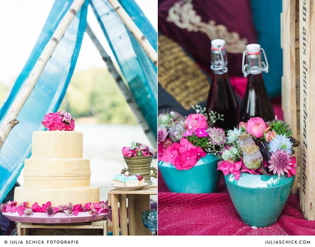 Boho-Hochzeitsdekoration, Torte von Tortenmacher