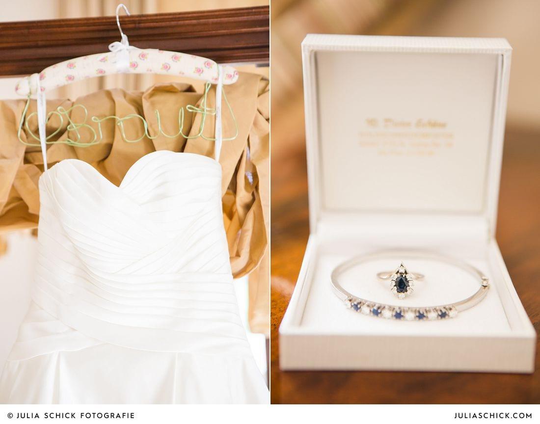 Brautkleid Calanthe in einer Hochzeitsuite auf Gut Kump Hamm