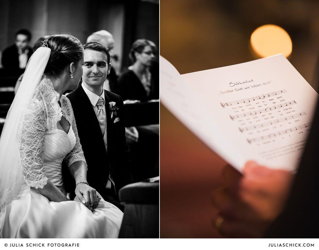 Brautpaar bei Hochzeit in der Herz-Jesu Kirche in Heeren, Hochzeitsfotografie