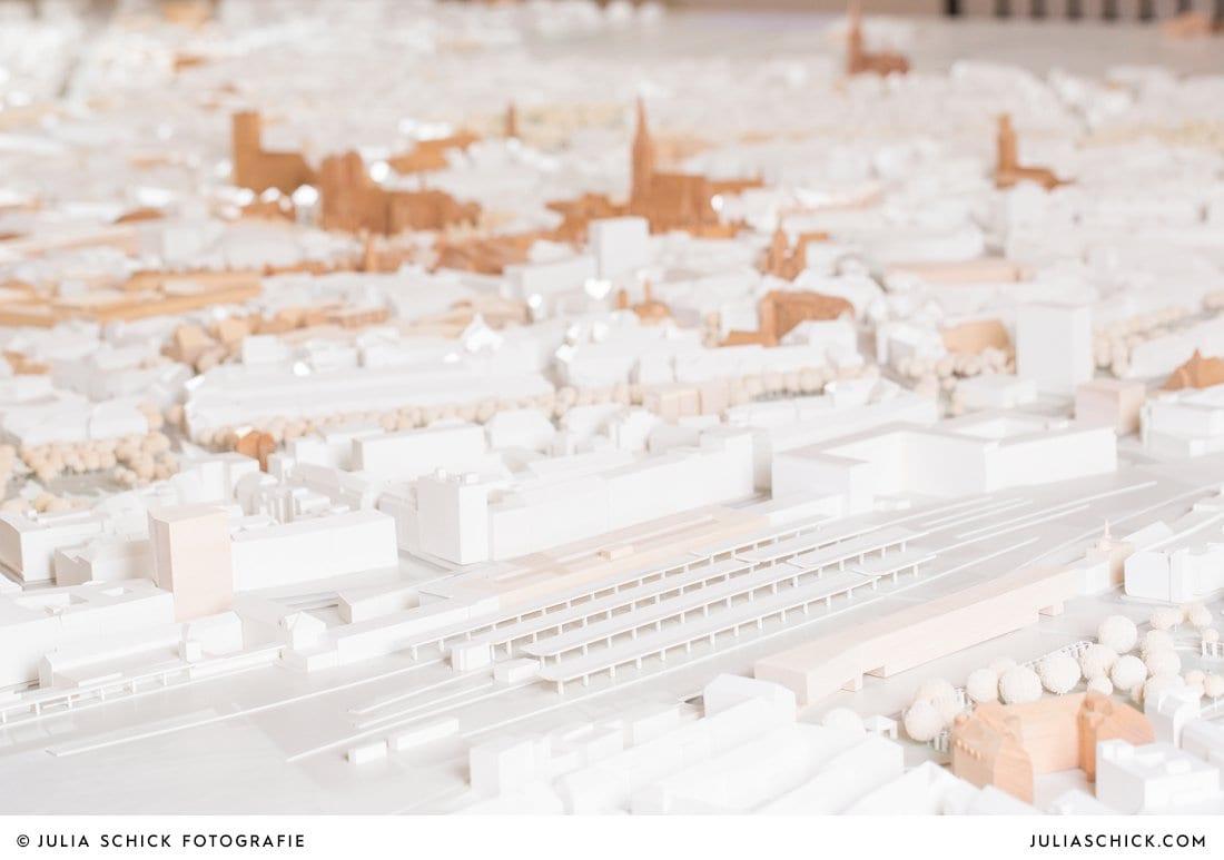 Münsteraner Bahnhof dargestellt imMünster Modell in der Dominikanerkirche in Münster