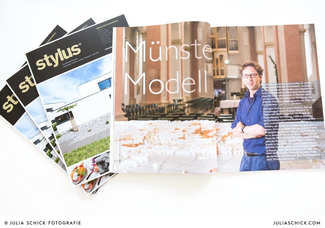 Veröffentlichung im Stylus Magazin Metropolmagazin für Münster und Osnabrück Ausgabe 2/2014
