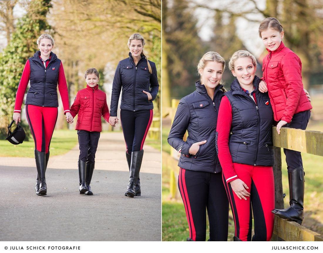 Weibliche Models und Kindermodel Kollektion HKM Pro Team Herbst/Winter 2014/2015 auf Vechtehof Egbers