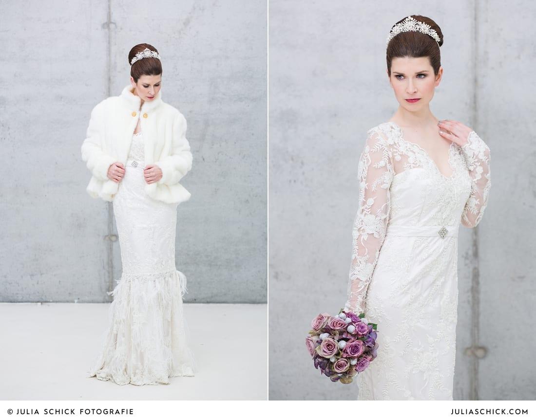 Braut in Mermaid-Brautkleid von MM Couture
