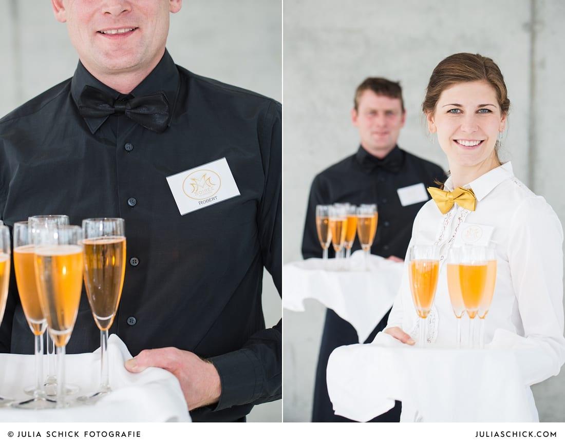 Kellner im Fleet3 bei einer Hochzeit