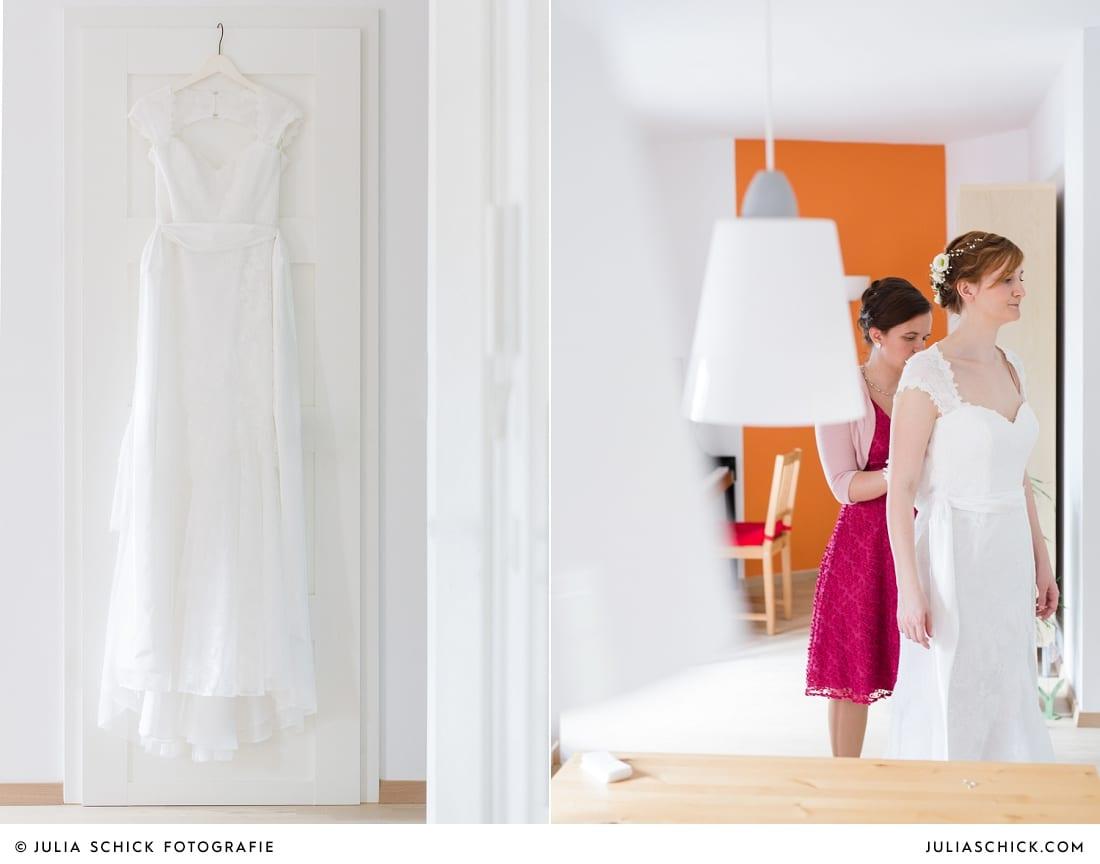 Braut beim Getting Ready Fotoshooting in Gelsenkirchen