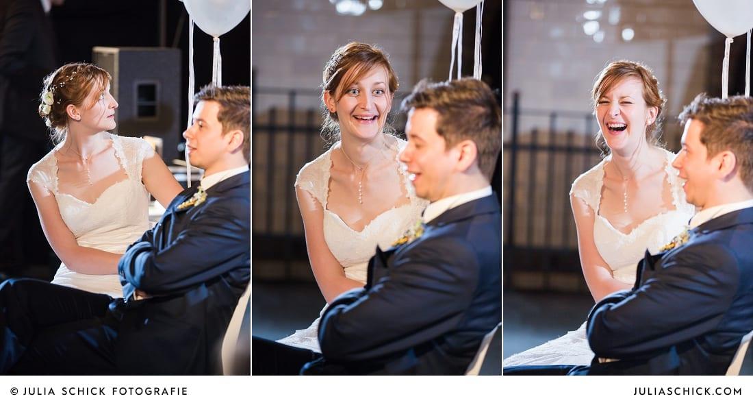 Brautpaar bei Spielen auf der Künstlerzeche Unser Fritz in Herne
