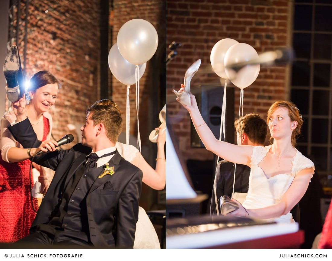 Schuhspiel bei Hochzeitsfeier auf der Künstlerzeche Unser Fritz