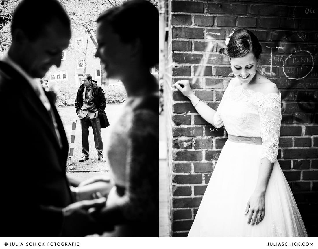 Brautpaar beim First Look in münster