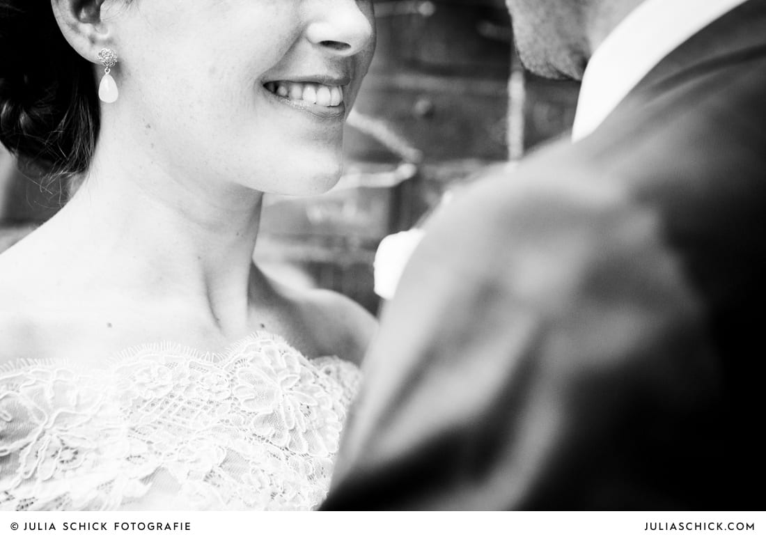 Hochzeitsfotos Detial des Gesichts der Braut