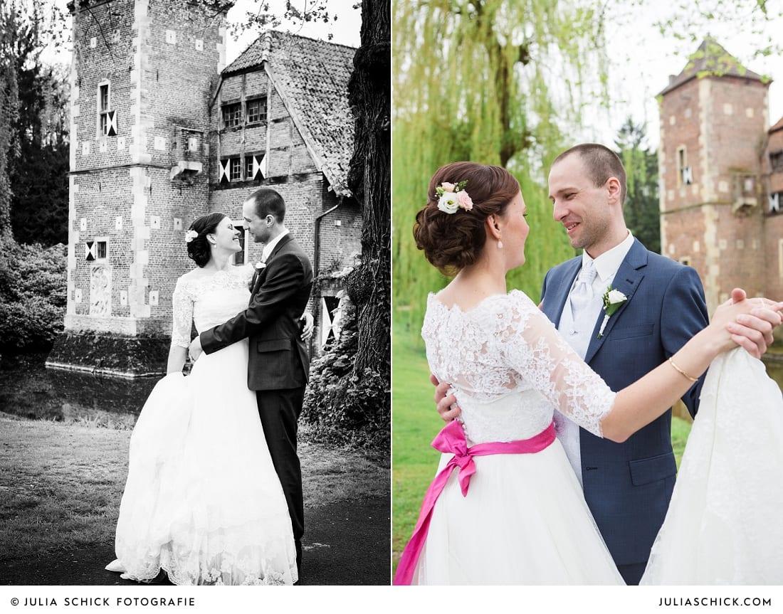 Tanzendes brautpaar auf Burg Hülshoff