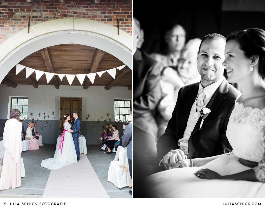 DIY-Hochzeitsdekoration bei freier Trauung auf Burg Hülshoff