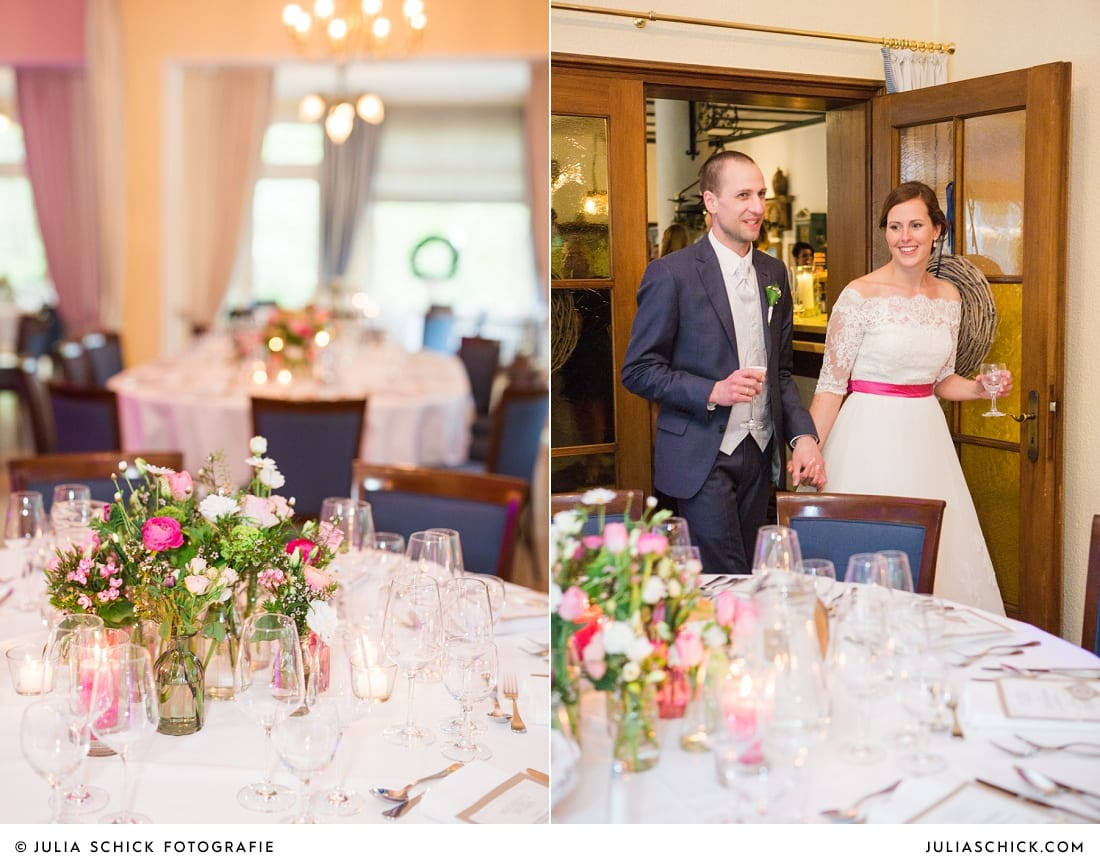 Hochzeitsdekoration von Blütenzauber auf dem Sudmühlenhof