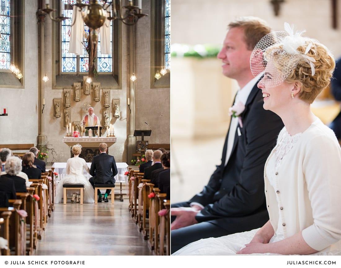 Brautpaar bei Gottesdienst in der Kirche St. Dionysius in Havixbeck