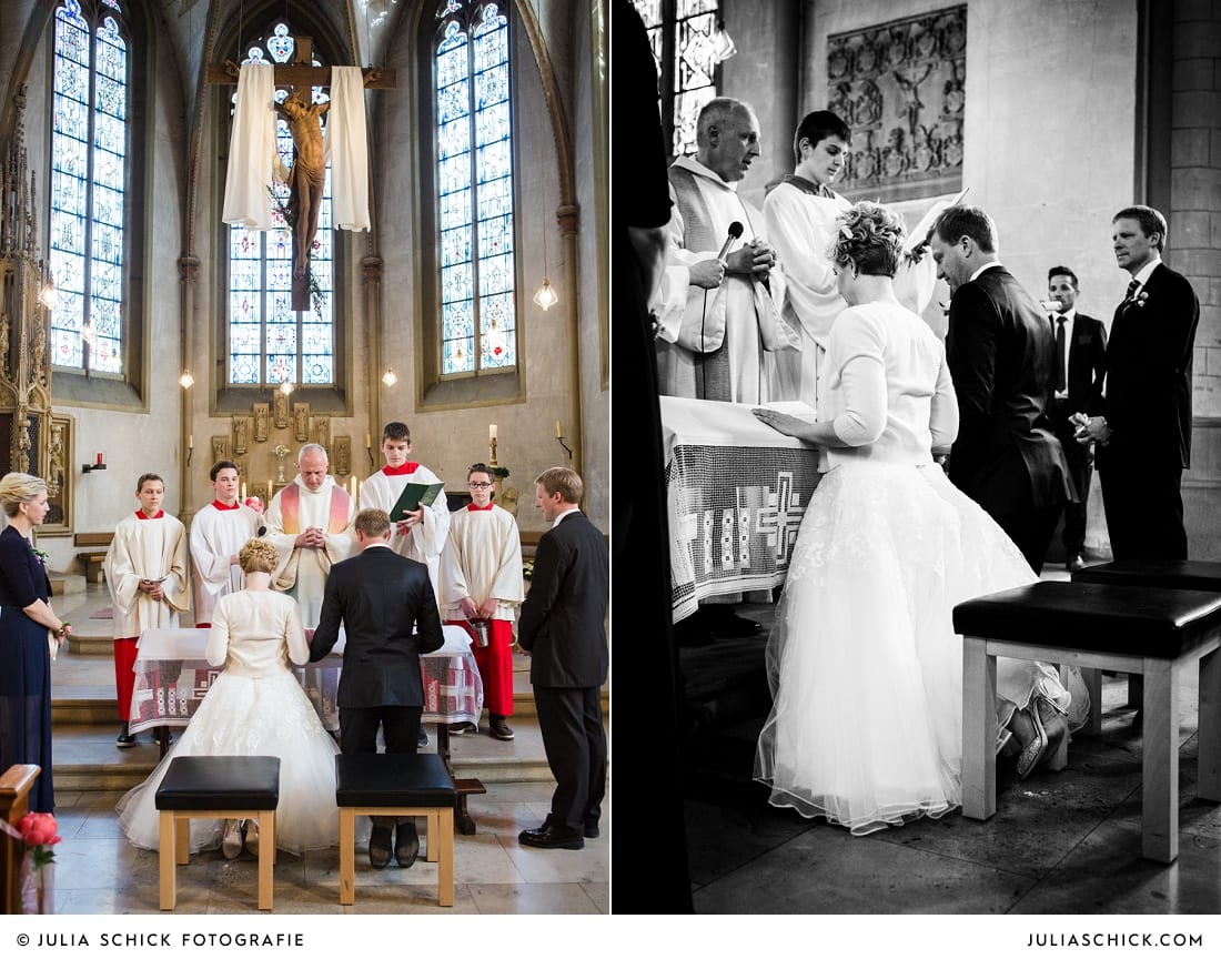 Brautpaar bei Segnung in der Kirche St. Dionysius in Havixbeck