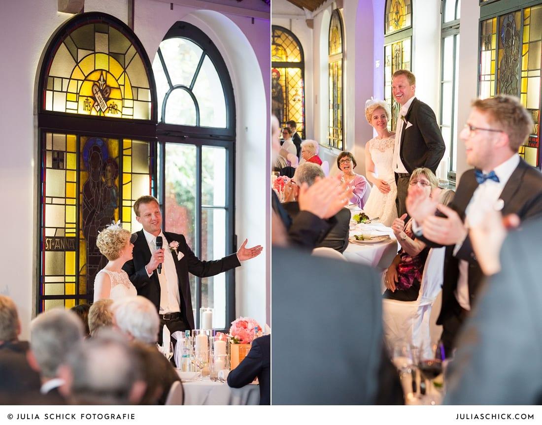 Rede des Brautpaares auf dem Marienhof, Baumberge Nottuln