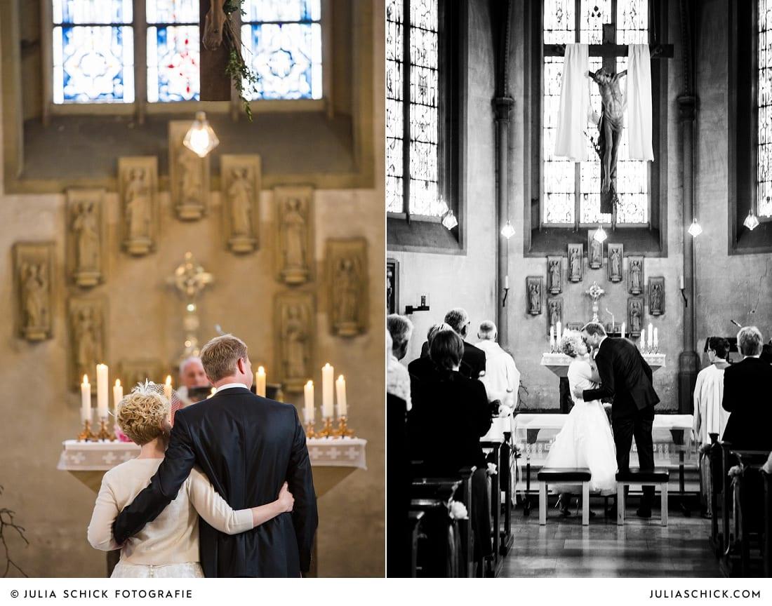 Brautpaar bei Trauung in der Kirche St. Dionysius in Havixbeck