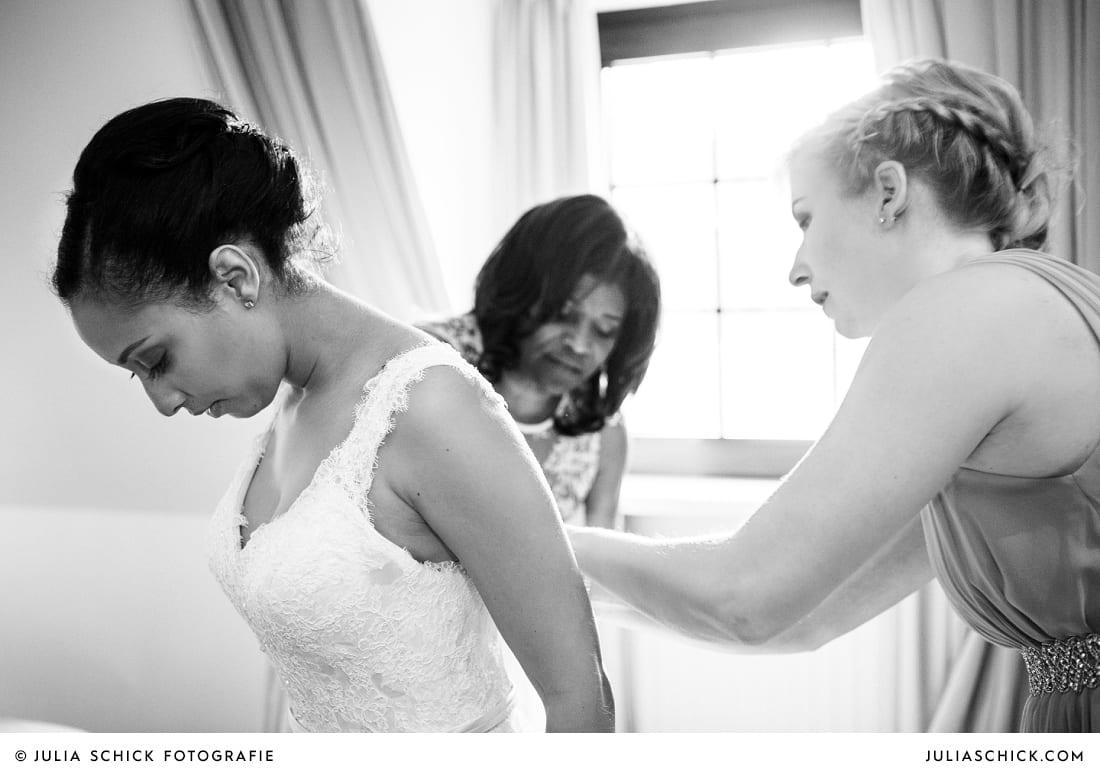 Getting Ready der Braut auf Sportschloss Velen