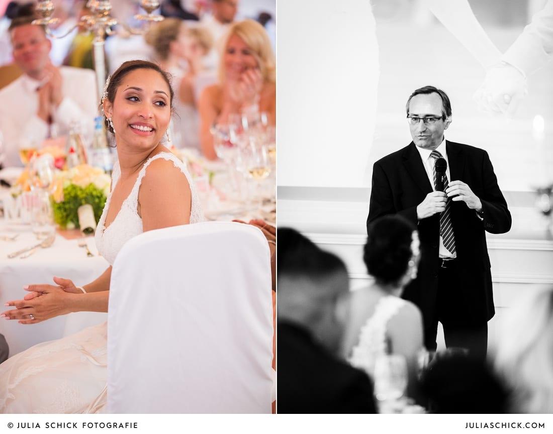 Rede des Brautvaters bei Hochzeitsfeier in der Remise auf SportSchloss Velen