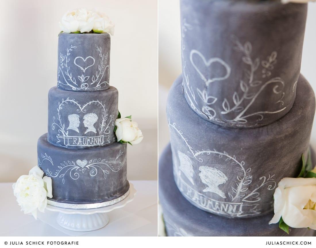 Hochzeitstorte Chalkboard Cake von Tortenmacher in Hamm