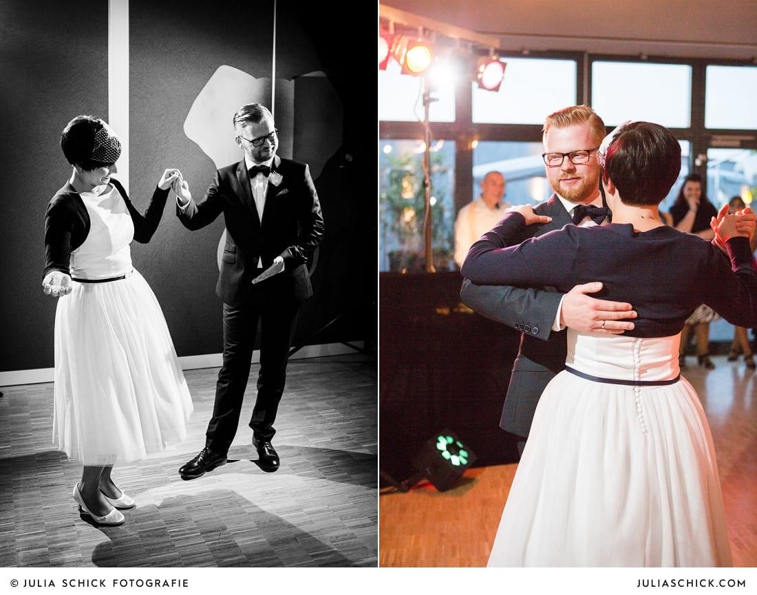 Brautpaar bei Ehrentanz bei Hochzeit in Hamm