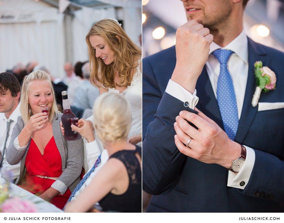 Bräutigam schenkt Schnaps aus bei Hochzeit in Ahaus Alstätte