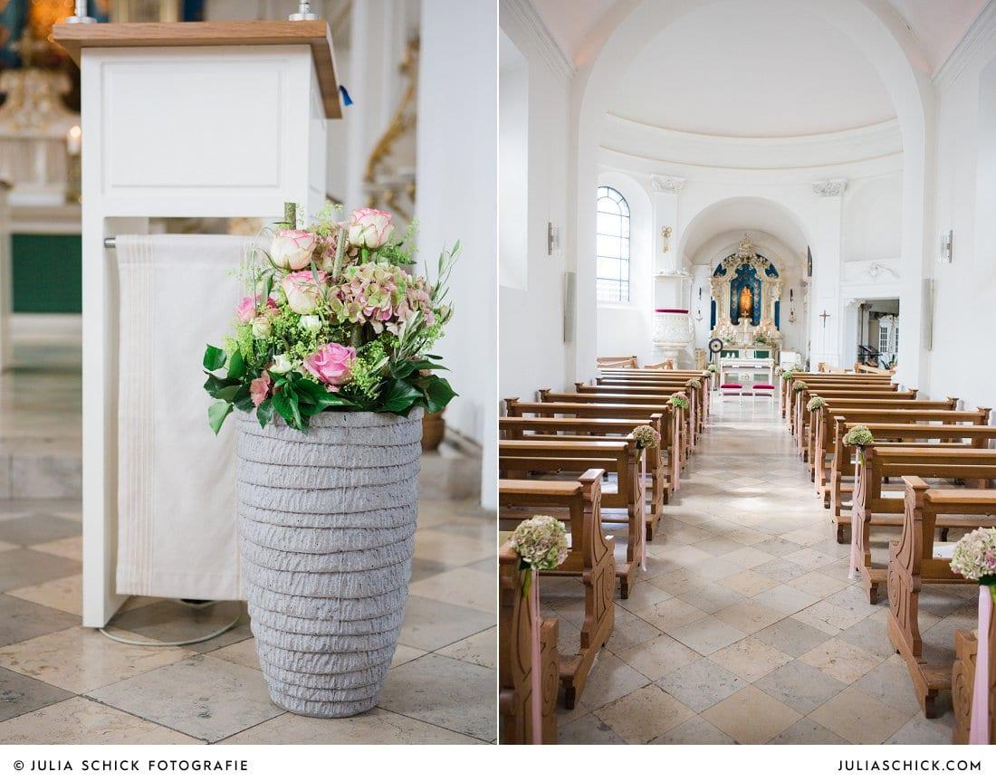 Kirchenschmuck und Bankdekoration von Blumen Dahlmann in der Dyckburgkirche