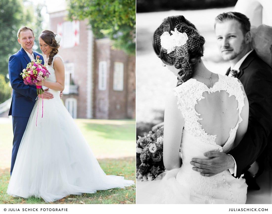Brautpaar vor der Schlossruine Hertefeld in Weeze