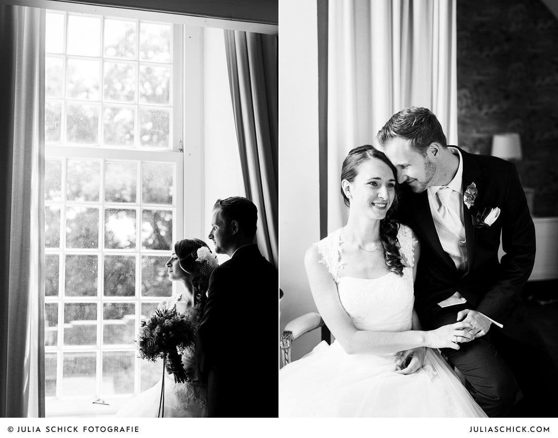 Hochzeitsfotoshooting im Turmsalon der Schlossruine Hertefeld in Weeze