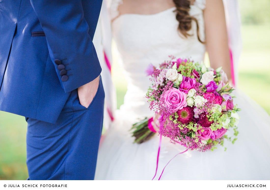Brautstrauß in rosa pink und weiß in Weeze