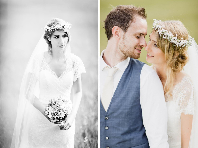 Braut in Brautkleid von Suzanne Neville
