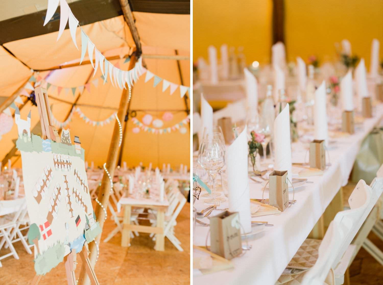 Boho-Hochzeitsdekoration in Tip