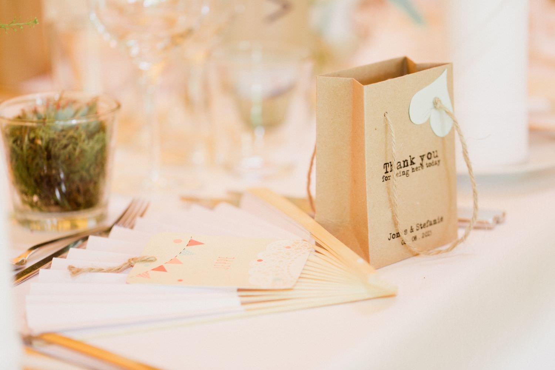 Gastgeschenk bei Hochzeit im Boho-Stil