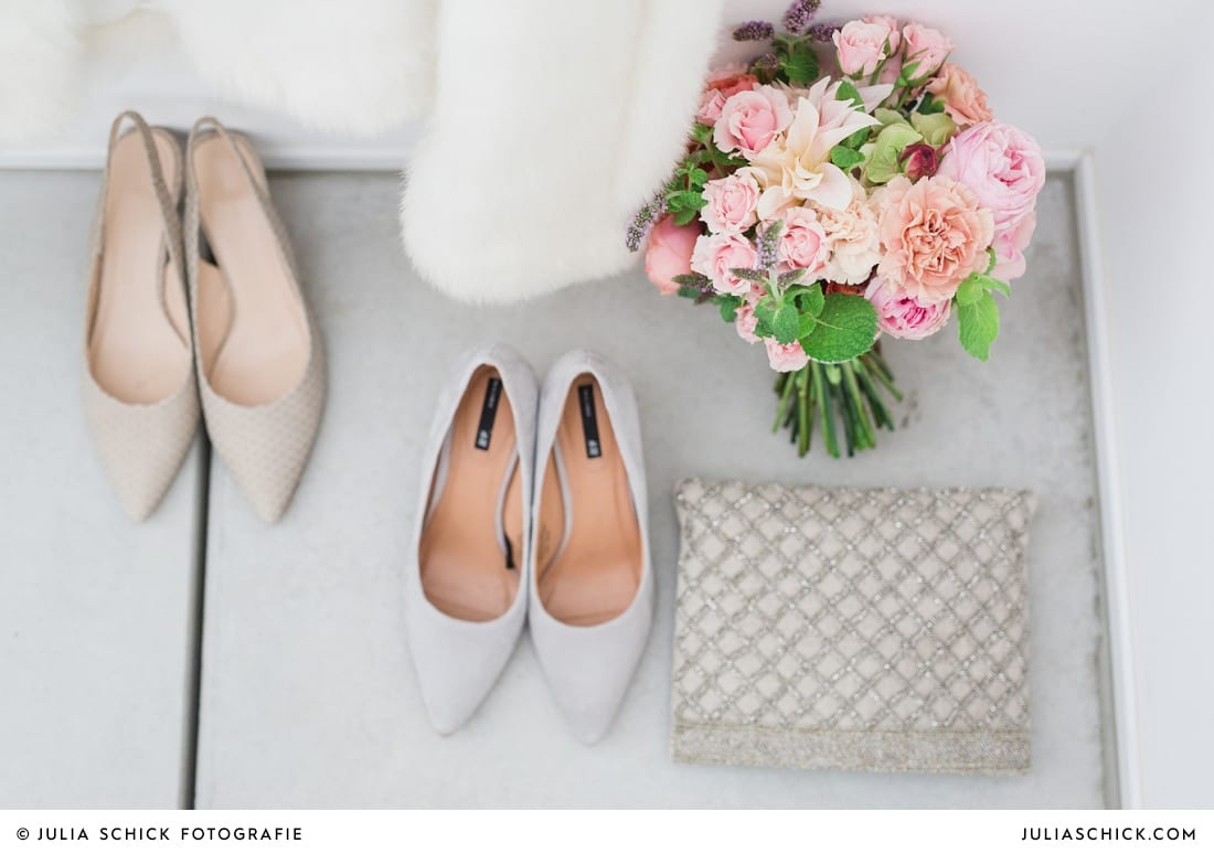 Brautstrau0 und Brautschuhe