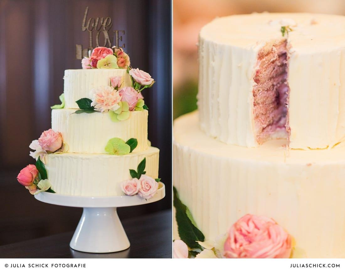 Hochzeitstorte mit Love love love Cake topper