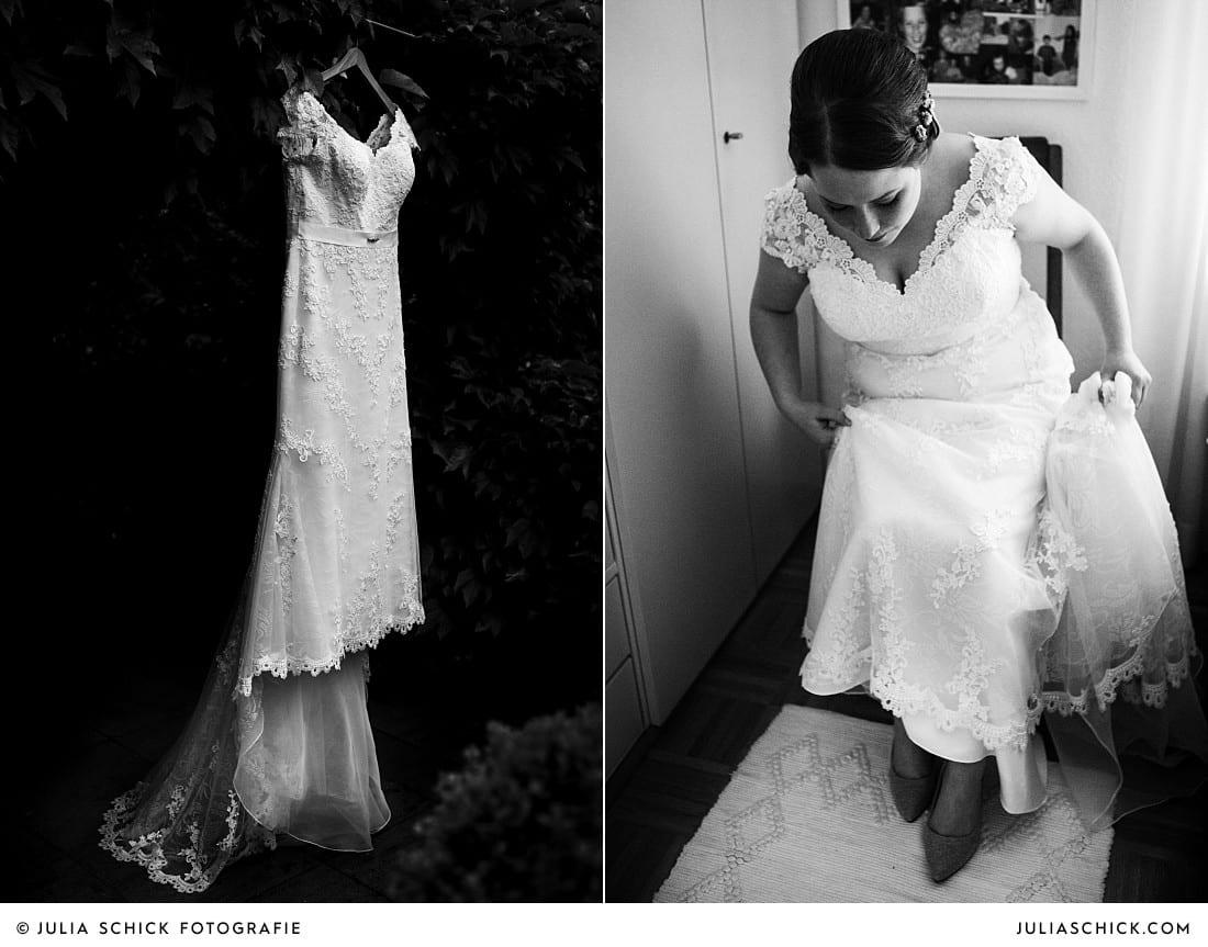 Brautkleid bei Hochzeit in Lüdinghausen