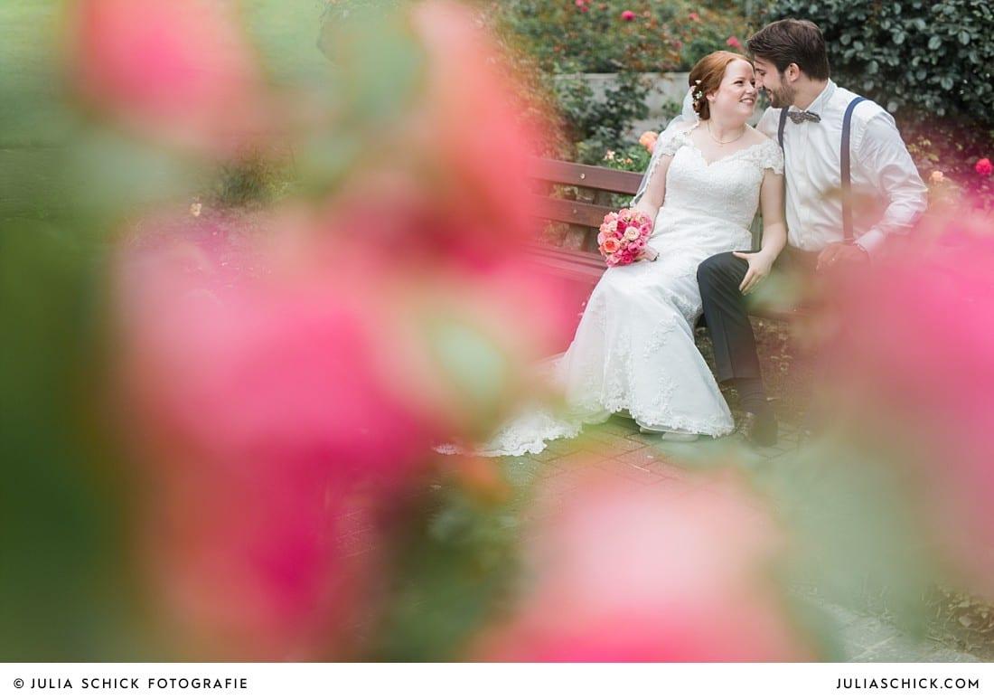 Hochzeitsfotos im Rosengarten Seppenrade in Lüdinghausen