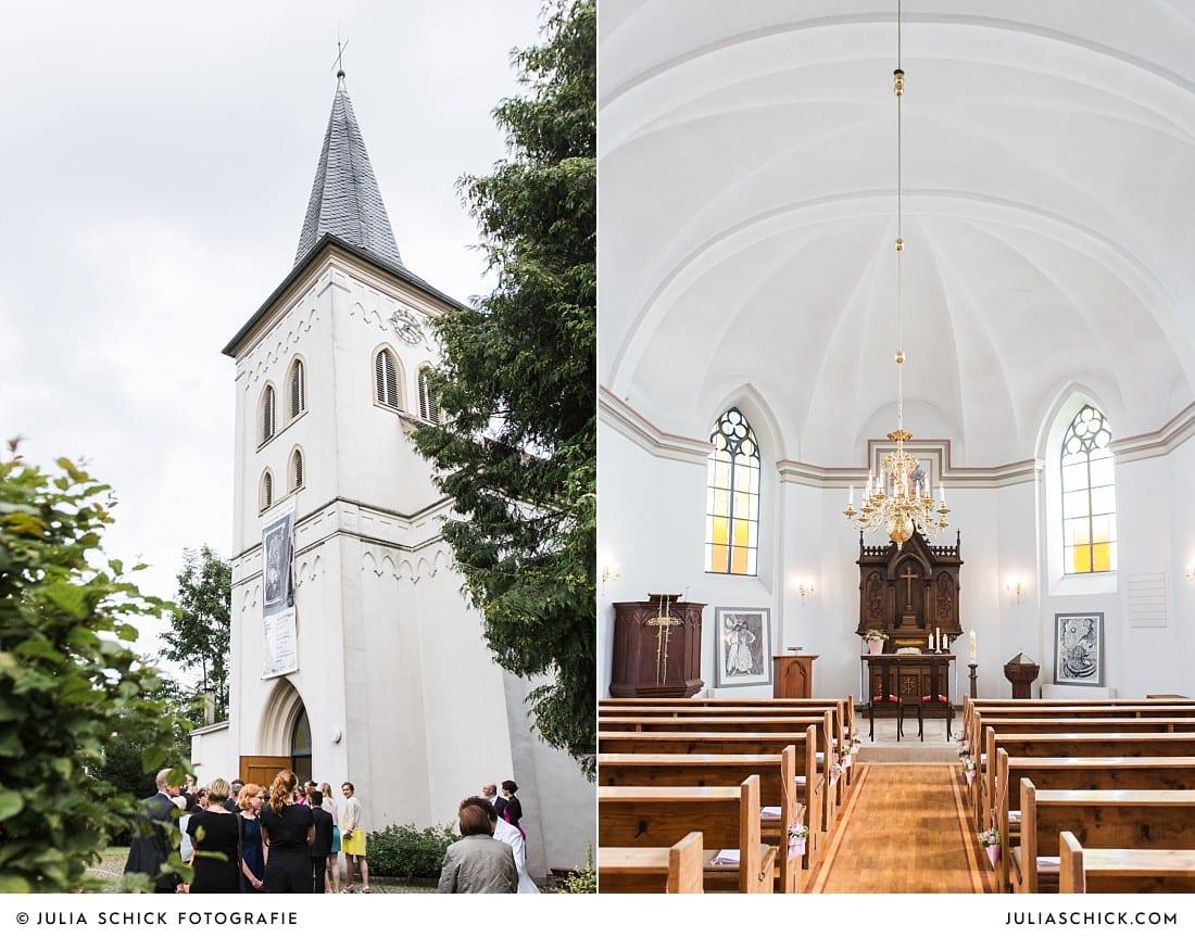 Evangelische Kirche in Lüdinghausen vor kirchlicher Trauung