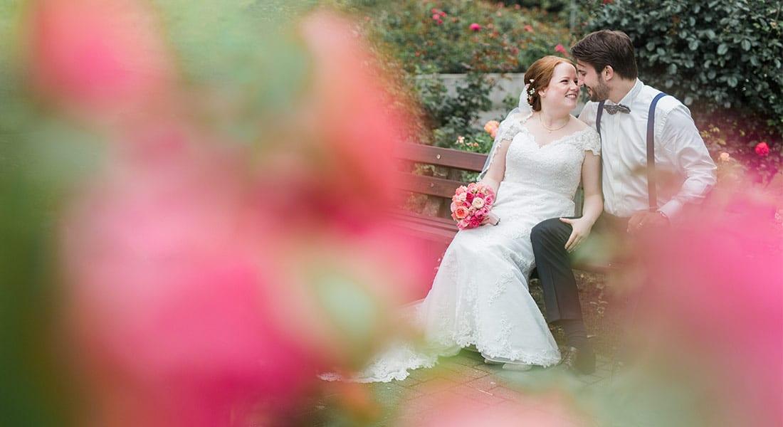Hochzeitsfotoshooting im Rosengarten Seppenrade
