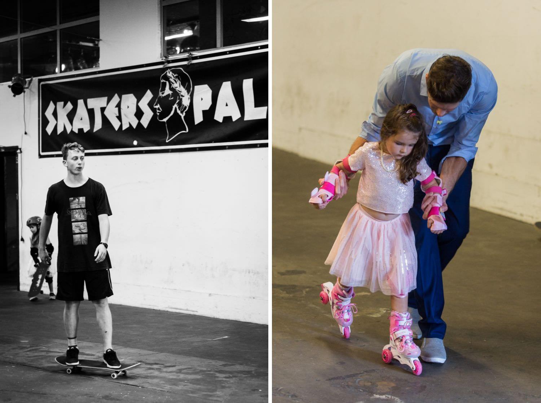 Skaterboarder bei Hochzeit im Skaters Palace